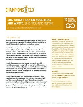 The Business Case for Reducing Food Loss and Waste
