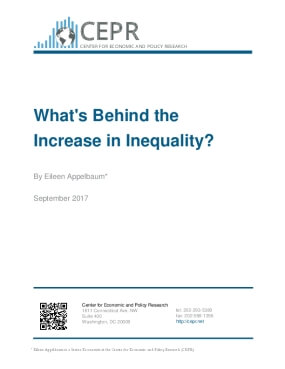 What's Behind the Increase in Inequality?