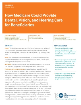 How Medicare Could Provide Dental, Vision, and Hearing Care for Beneficiaries